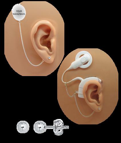 Ball Post Earring - 14K White Gold