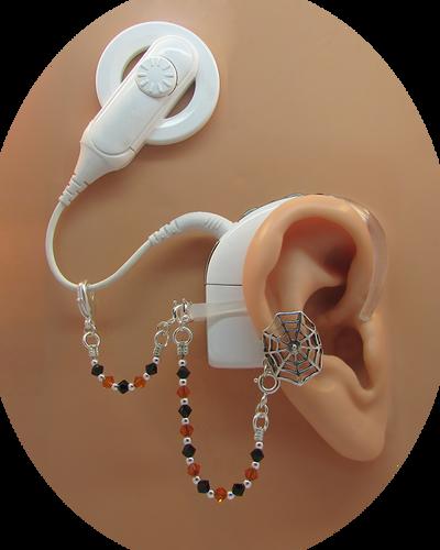"Sterling Silver ""Spider Web"" Ear Cuff - Halloween Edition"