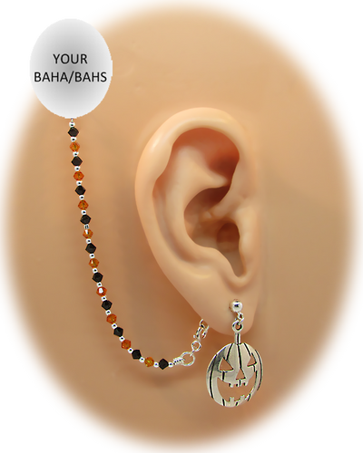 Sterling Silver Pumpkin Earring - Halloween Edition