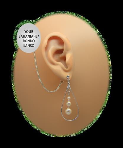 Teardrop Hoop & Pearls - Pearls