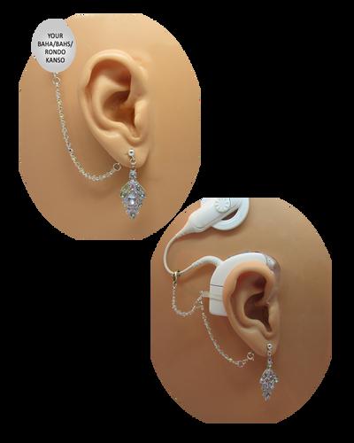 Vintage CZ Earrings