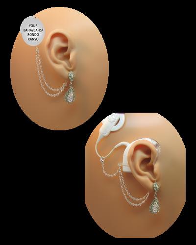Vintage Large CZ Earrings