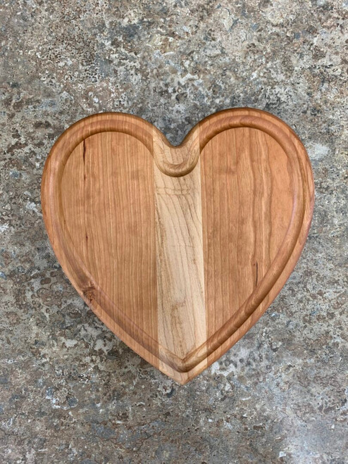 Cherry & Maple Heart Cutting Board