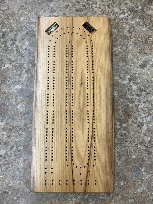 Two Player Live Edge Black Locust Cribbage Board