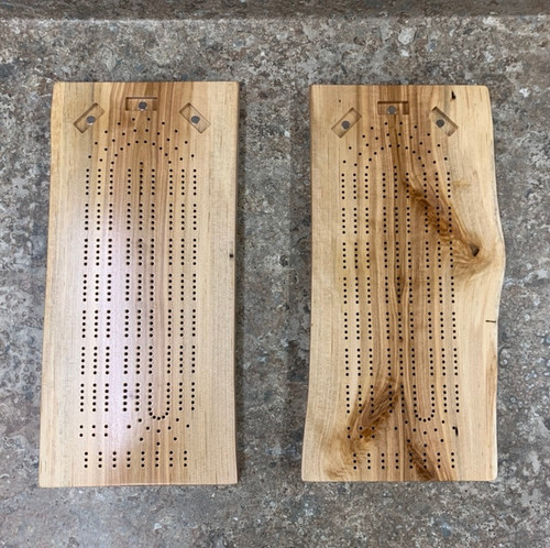 Three Player Live Edge Birch Cribbage Board