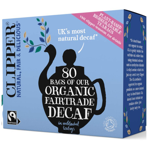 Clipper Organic Decaf 80 Tea Bags (Best By)