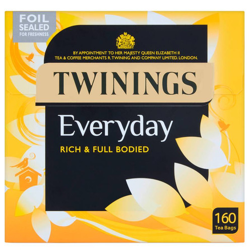 Twinings Everyday 160 Tea Bags (Best By May 2023)