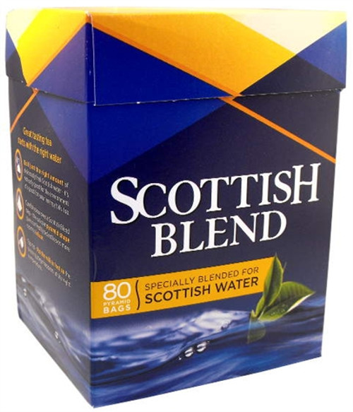 Box of Scottish Blend Tea Bags, all side view