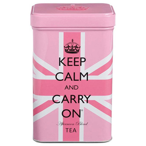 Keep Calm and Carry On Afternoon Tea Bags in Pink Union Jack Tin