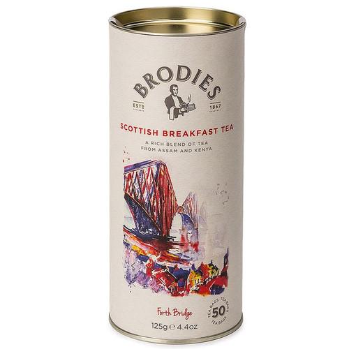 Brodies Scottish Breakfast Tea Bags in Drum