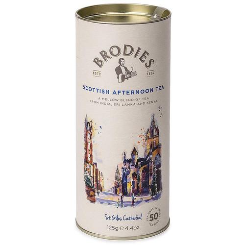Brodies Scottish Afternoon Tea Bags in Drum