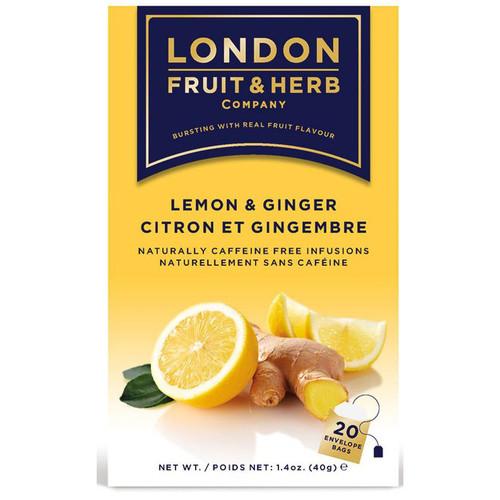 London Fruit & Herb Lemon & Ginger Tea Bags