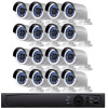 Bullet IP Security Camera System, 16 Camera, Outdoor, Full HD 1080p, 4TB Storage, Night Vision, LTN8716-B2W