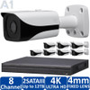 8-Camera 4K Indoor/Outdoor IP Security Camera System