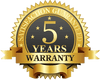 5 Years Limited Manufacturer Warranty