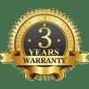 3-Year Manufacturer Warranty