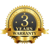 3-Year Manufacturer Warranty