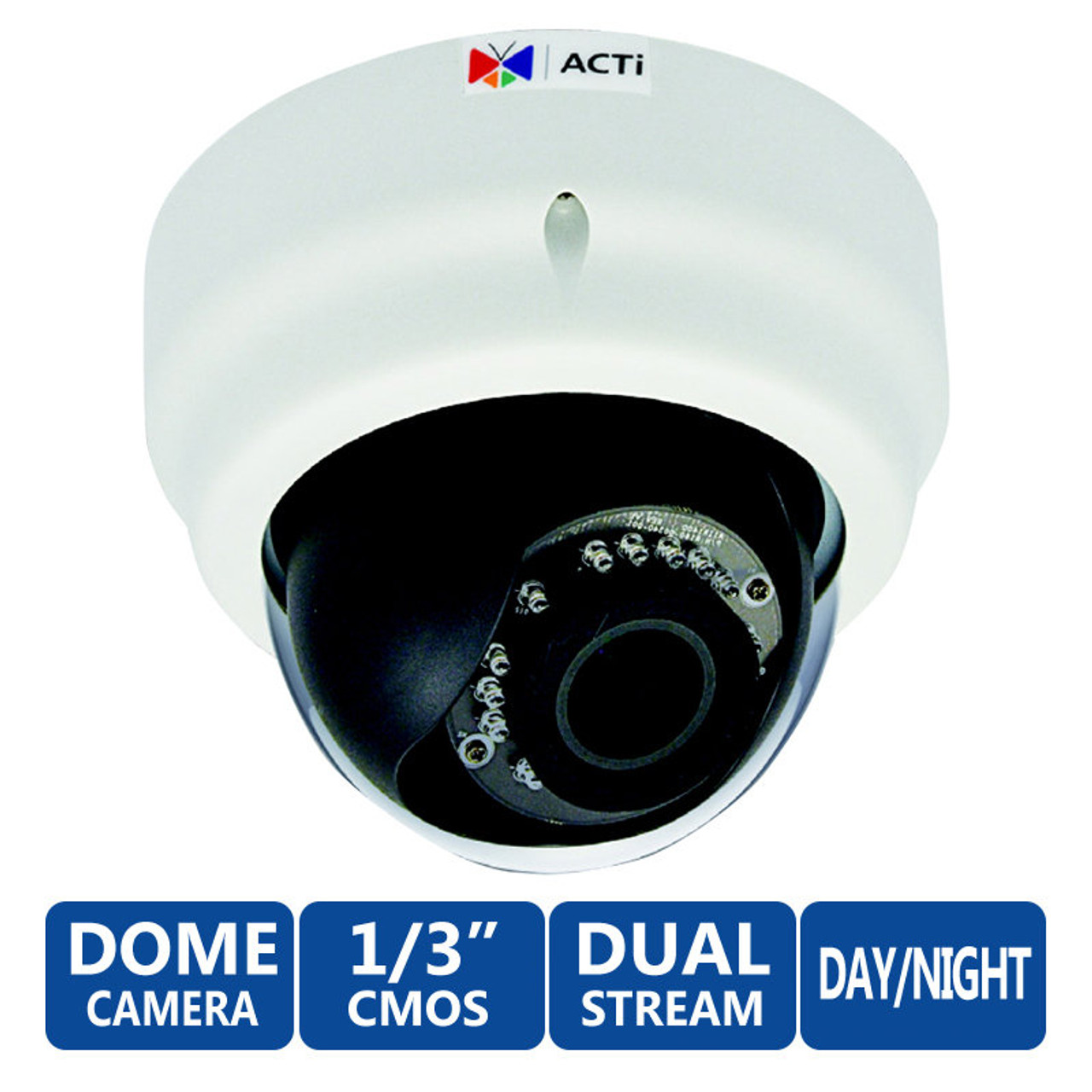 ACTi E65A 3MP IR Indoor Dome IP Security Camera