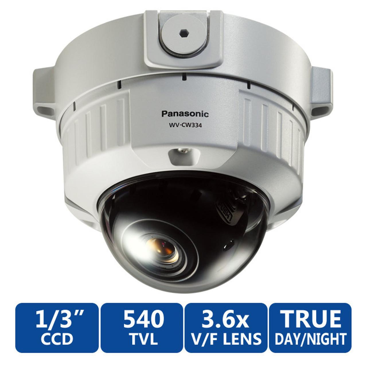 Panasonic WV CW334S 540tvl Day Night Vandal Proof Dome Security Camera