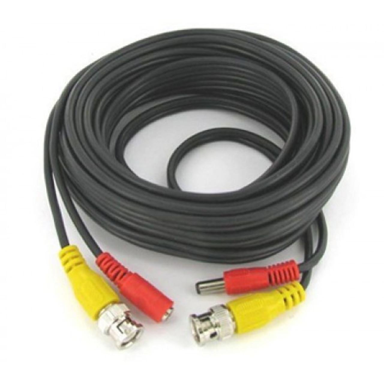 Części i akcesoria do systemów monitorowania 2 Unit Samsung HD BNC Cable 60 Ft for CCTV Surveillance Camera