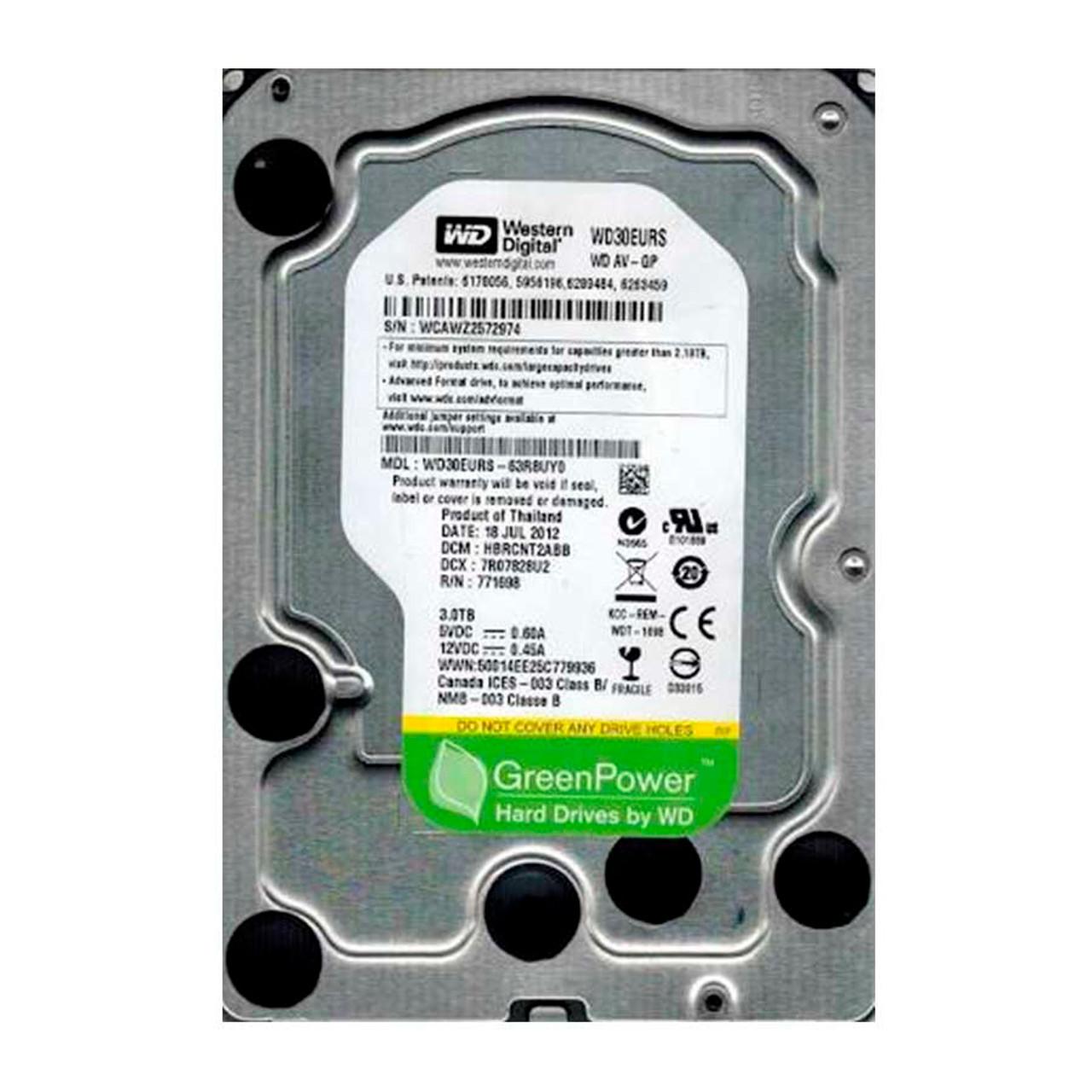 Western Digital WD30EURS AV-GP 3TB HDD Internal Hard Drive