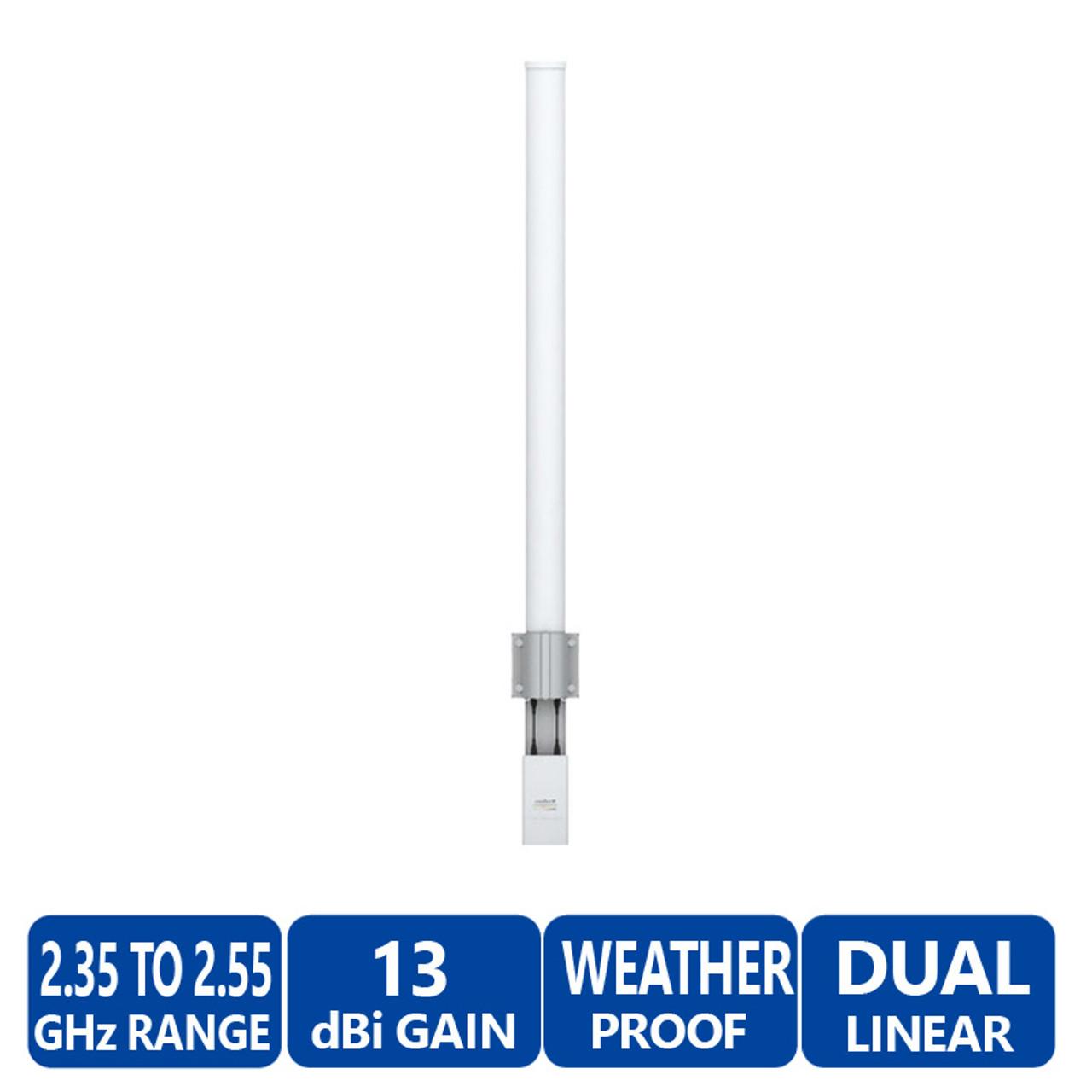 Ubiquiti AMO-2G13 airMAX 2x2 Dual Polarity MIMO Omni Antenna