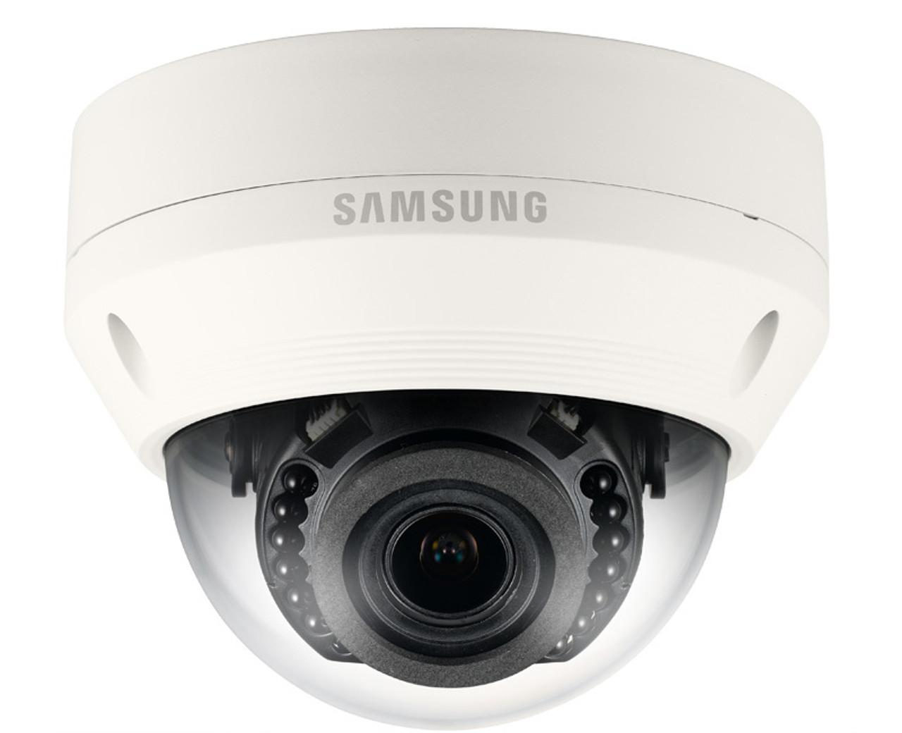 Samsung SNV-L6083R 2 1MP Outdoor Dome IP Security Camera - 2 8~12mm  Varifocal Lens, IR 65ft