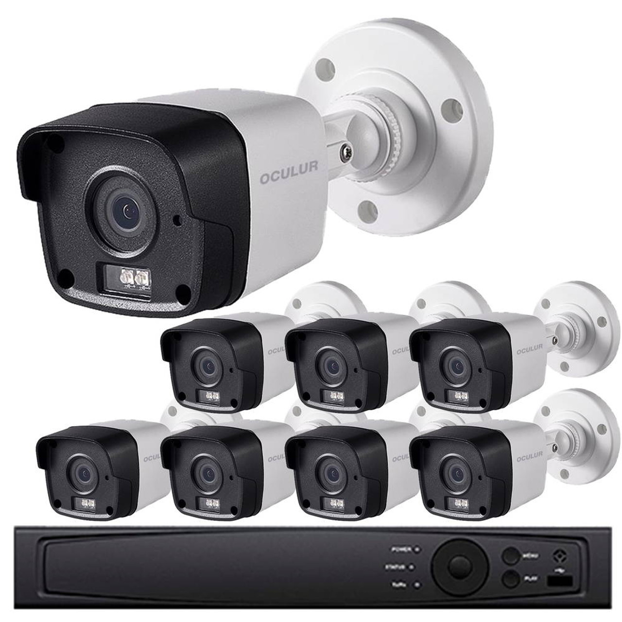 Gas Station Security Camera System - 8-Camera, 1080p HD Resolution, Wide  Angle Field of View, 65ft  Night Vision, Weatherproof, 3-yr warranty