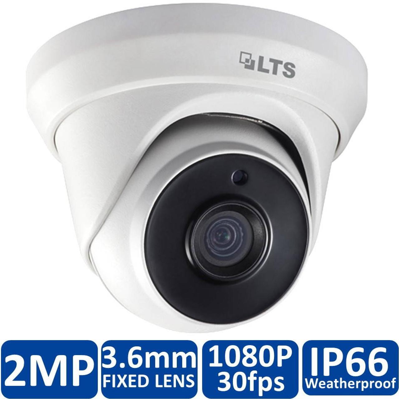 Black CMHT2023RB LTS Platinum HD-TVI Varifocal Turret Camera 2.1MP