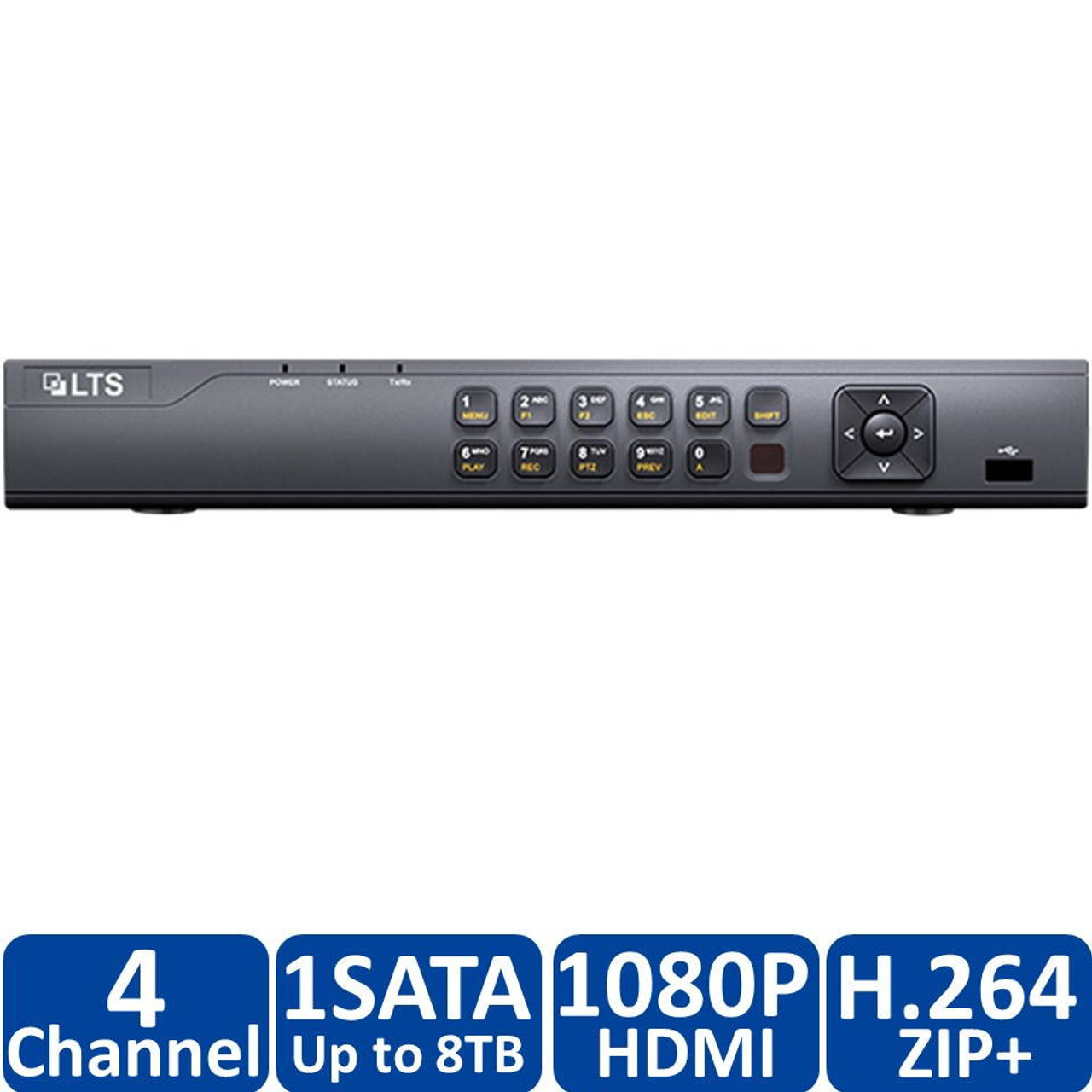 LTS LTD8304K-ET 1080P TVI 4CH+1IP CH HD TVI,AHD,CVI NEW H265+