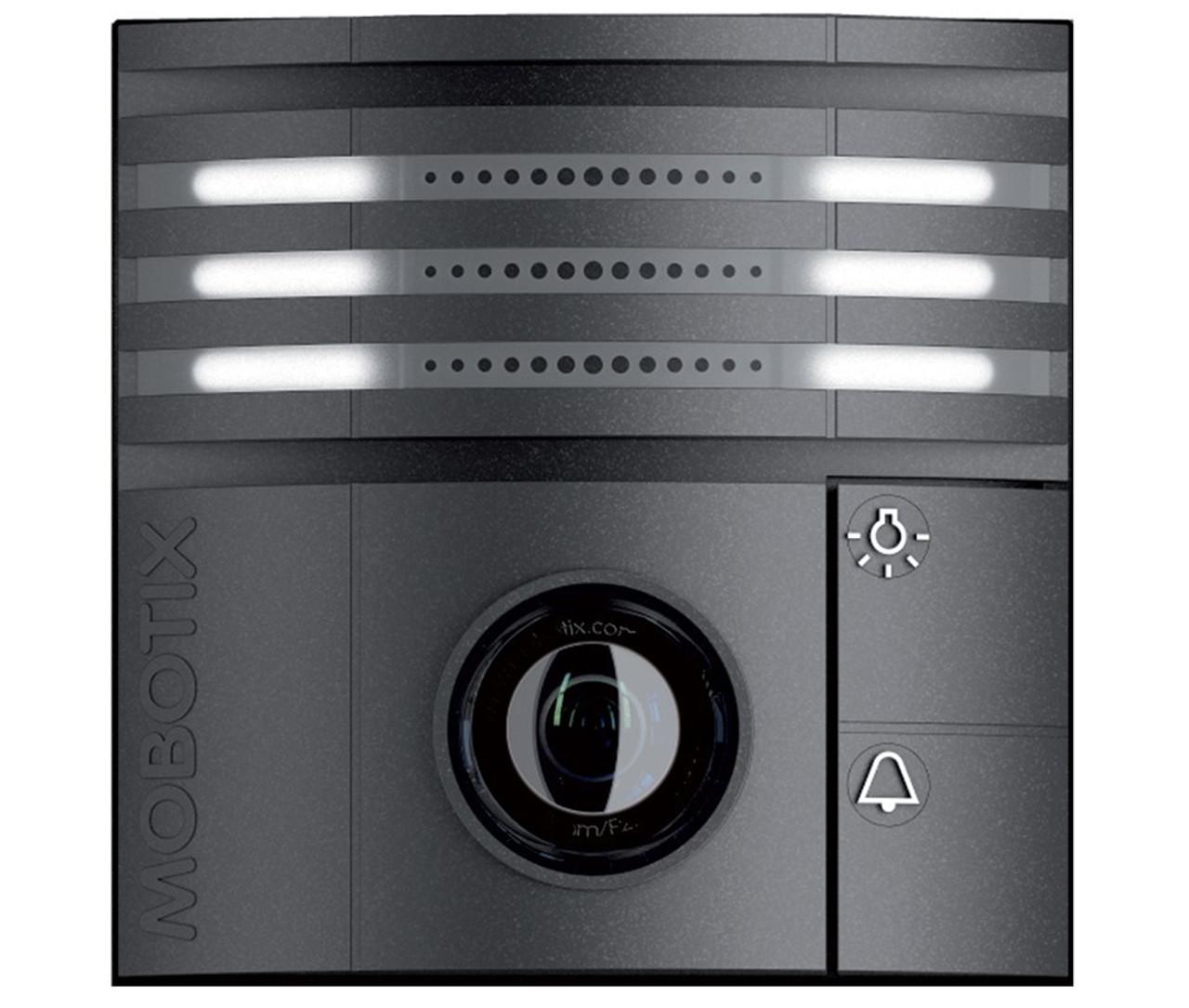 Mobotix MX-T25-D016-B 6MP Indoor/Outdoor IP Video Door Station - 1 6mm  Fixed Lens, Day, vPTZ, Speaker and Microphone, Weatherproof, Black