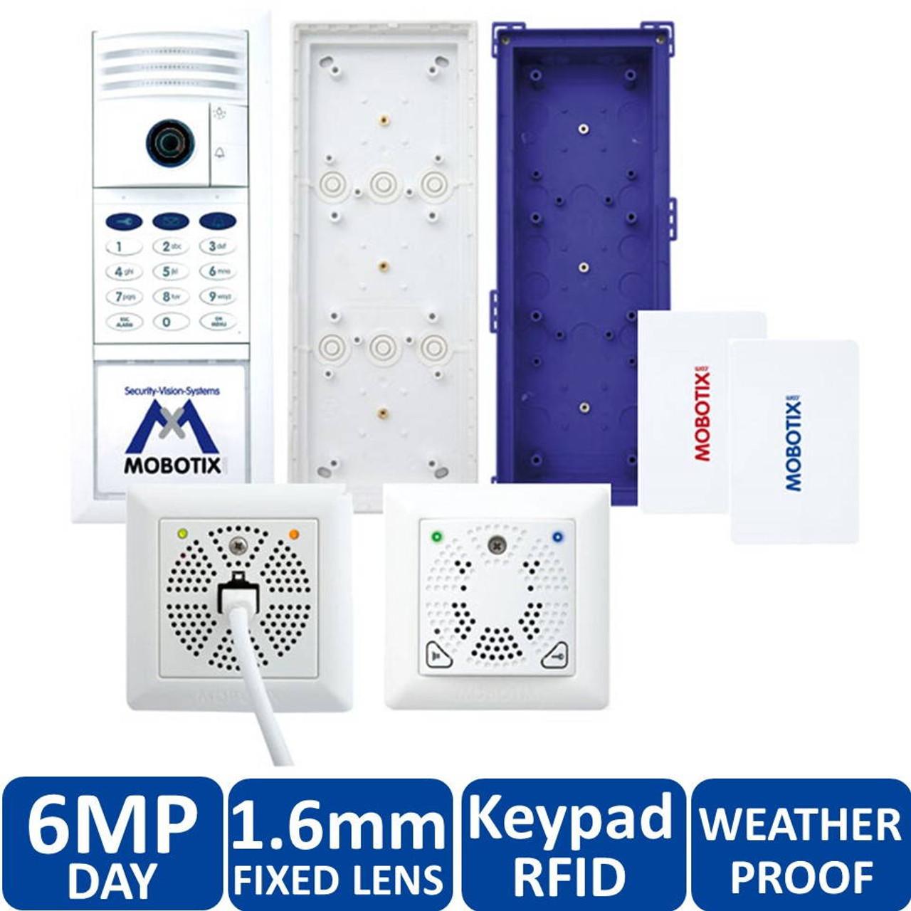Mobotix MX-T25-SET2 6MP Indoor/Outdoor Complete Kit IP Video Door Station -  1 6mm Fixed Lens, Keypad RFID, Two-Wire, Keypad, DoorMaster, Weatherproof