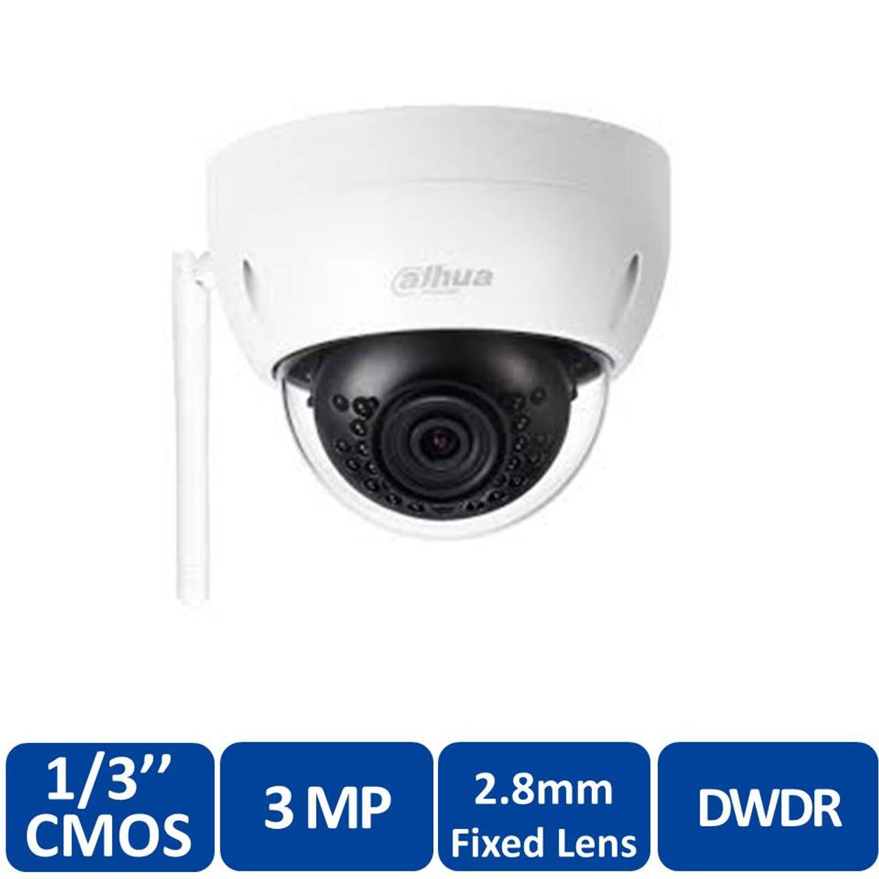 Dahua IPC-HFW1320S-W 3MP Mini Bullet IP67 Wifi Security Camera 3.6mm No POE