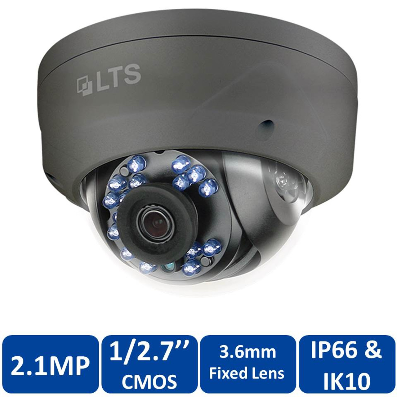 CMHD7322WE-28 2.1MP HD-TVI 2.8mm Wide Angle 65ft IR Vandal Proof Dome Camera