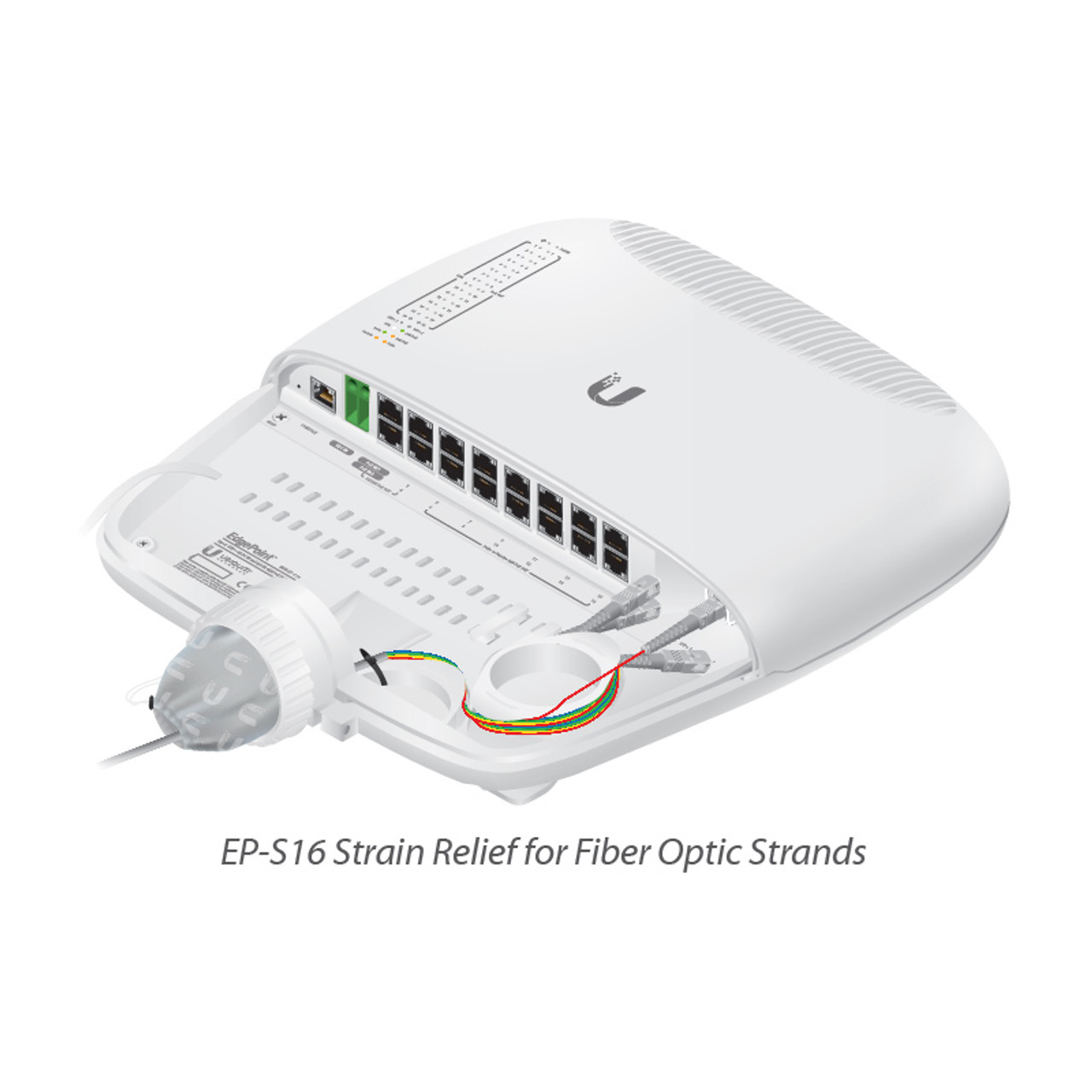 Ubiquiti EP-S16-US EdgePoint Intelligent WISP Control with FiberProtect  Switch with 16 Port and 2 SFP+