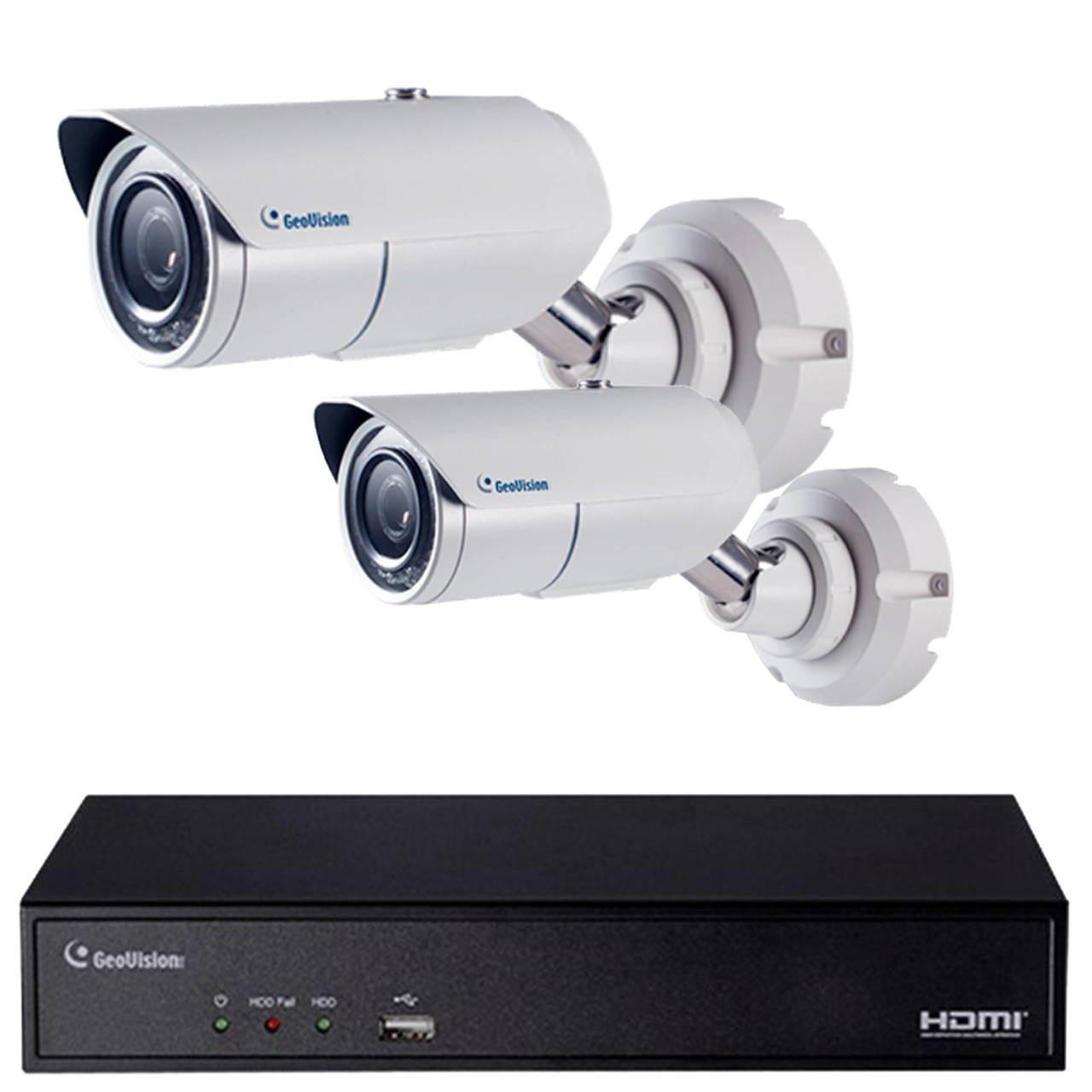 2-Camera 2MP License Plate Capture (LPR) IP Security Camera System - 1080p  Full HD, Max  Speed 37mph, Night Vision, SL2C37IP1T