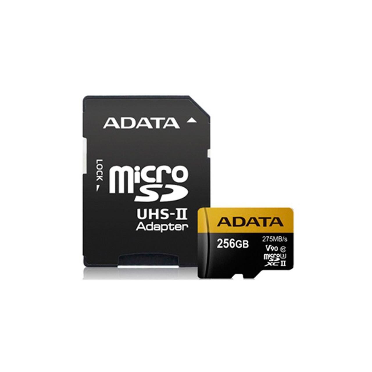 LTS MAUSDX256G ADATA Premier ONE 256GB SDXC UHS-II U3 Class10 V90 microSD  Card