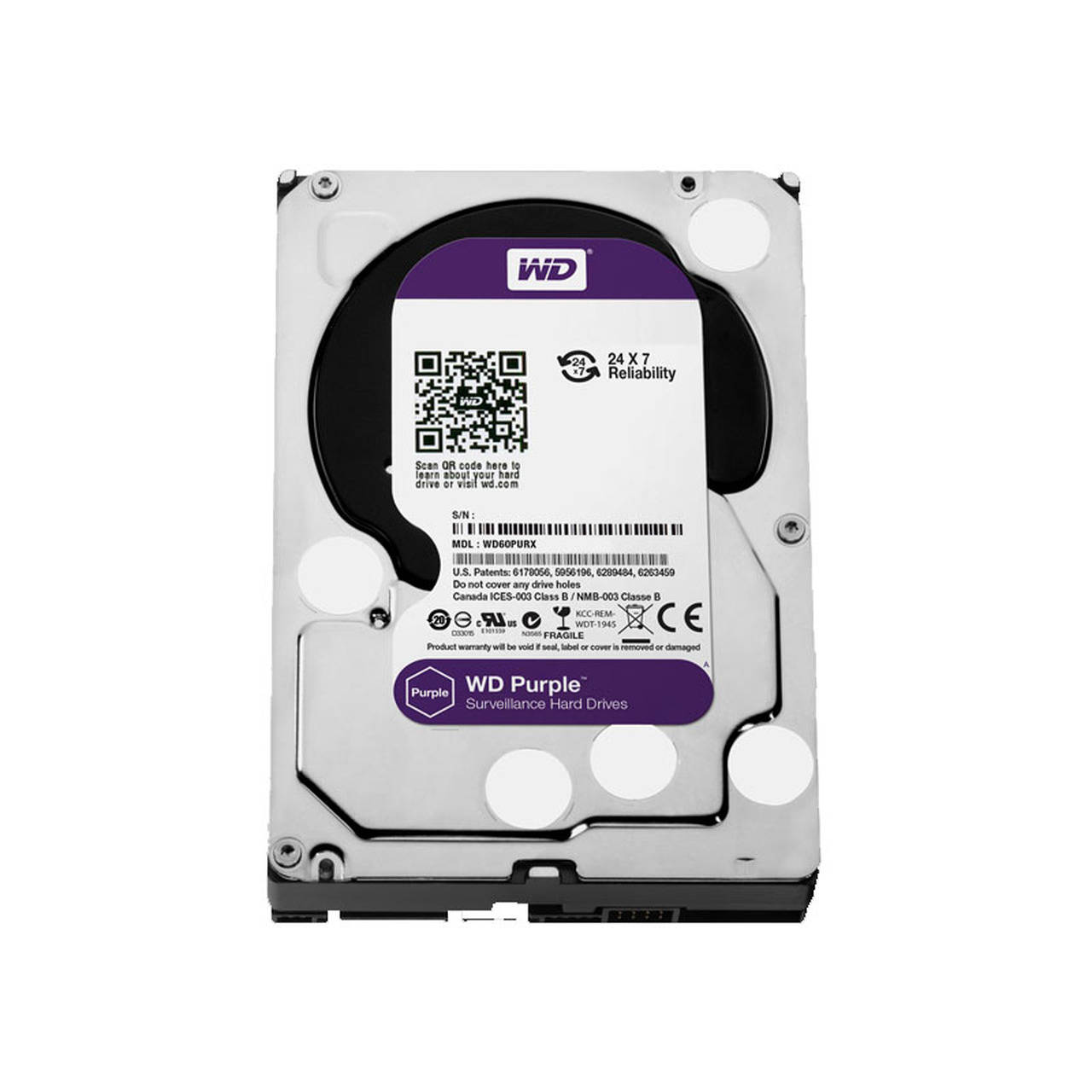 LTS DHWD80PUZX Western Digital Purple Surveillance Hard Drive - 8TB
