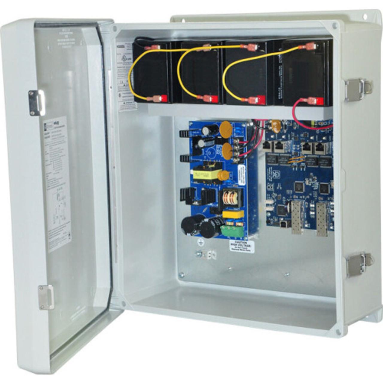 Altronix NetWaySP4WPX Dual 1G Fiber SFP - 4 port 10/100/1000 PoE/PoE+  configurable for 2x 60W Hi-PoE