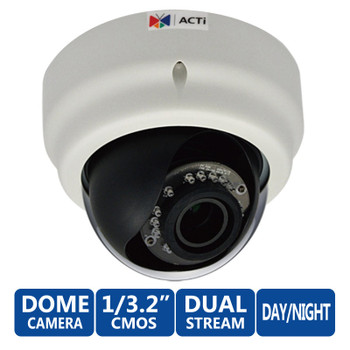 ACTi E63 5 Megapixel IR Day/Night Dome WDR Network Security Camera