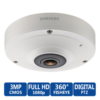 Samsung SNF-7010 3MP 360° Fisheye Network Security Camera