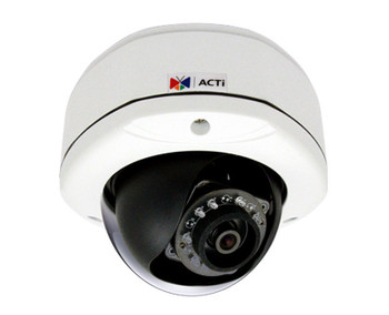 ACTi D72A 3MP IR Outdoor Dome IP Security Camera - 2-Way Audio Support, 2.93mm Fixed Lens