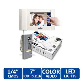 """Aiphone JMS-4AEDV 7"""" Touch-Screen Handset/Hands-Free Color Video Set"""