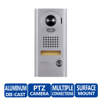 Aiphone IS-IPDV Surface Mount IP Video Door Station - IS Series Video Intercom System (Aluminum)