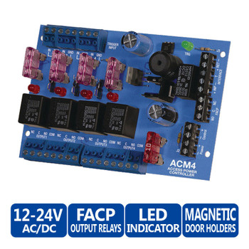 Altronix ACM4 4 Fused Outputs Access Power Controller - 12-24V AC/DC