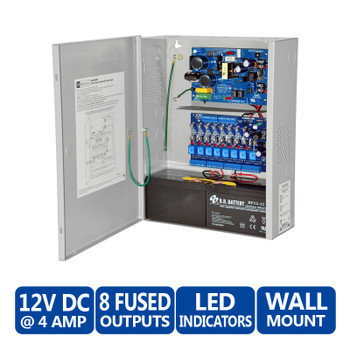 Altronix AL400ULACM 8 Fused Outputs Power Supply & Access Power Controller - 12VDC @ 4A