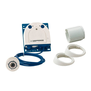 Mobotix MX-S15D-SET1 FlexMount Hemispheric IP Camera Complete Set - Single Day Sensor & 1.6mm Fisheye Lens