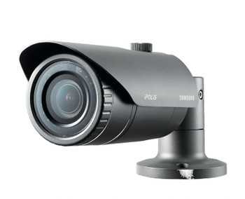 "Samsung SNO-L5083R 1.3MP IR Bullet IP Security Camera - 2.8~12mm Varifocal Lens, 4.3x Optical Zoom, 1/3"" CMOS, Weatherproof"