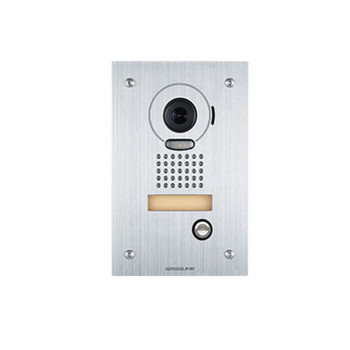 Aiphone JP-DVF Color Video Door Station, Vandal Resistant Flush Mount Stainless Steel