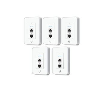 Ubiquiti UAP-IW-5-US Five Pack In-wall Wireless Access Point- RJ45 port, PoE port, 150 Mbps, Range of 82'